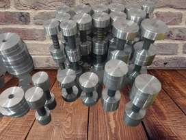 Dumbells, plates, and rod available