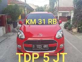 Daihatsu ayla X elegant 1.0 MT 2015 km31rb tangan prtm tdp5jt termurah