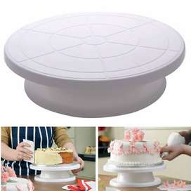 Kitchen 11 Inch Bakery Pastry Rotate Turnable Cake Decorating Stand