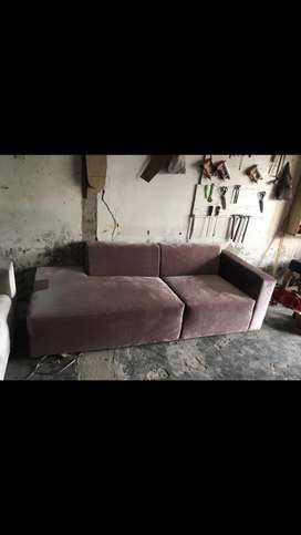 DISCOUNT SALE 3 SEAT TEA PINK SOFA DAYBED WITH QUALITY MATERIAL