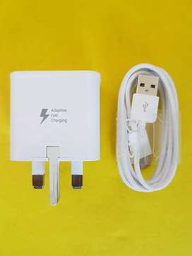 Charger Samsung A5 A7 S8 A9 Fast charging kaki 3 Type C ORI