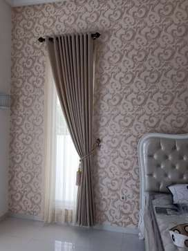Wallpaper dinding motif timbul