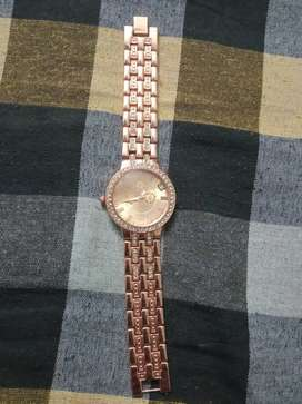 Women's and mens rose gold watch