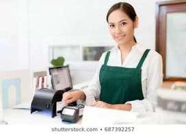 Lady cashier