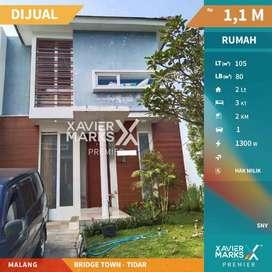 Dijual Rumah Bridgetown Tidar Kota Malang Hunian Asri , Nyaman