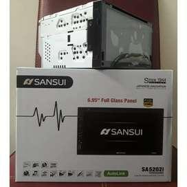 DOUBLE DIN SANSUI SA-5202I, garansi 1 th, pasang ke rumah
