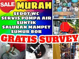 Sumur bor murah gali suntik servis pompa air sedot wc saluran mampet