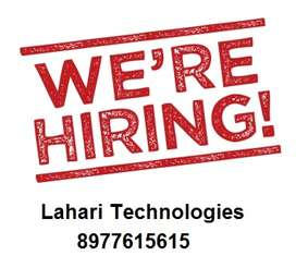 Hurry up for Web Designer Jobs in Lahari Technologies