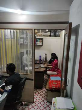 Fresh Office with cabin arrangement in heart of city
