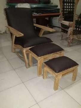 Kursi pedicure kayu jati