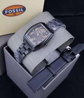 Jam Fossil sepaket Strap
