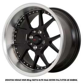 Jual velg racing HSR Ring16 Celong Untuk mobil Calya,Agya(bisa credit)