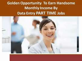 Data entry work at Home laptop must
