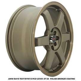 Velg Mazda2 Mobilio Jazz Yaris AMW Rays TE37 R17x7.5 hole 4x100 ET 38