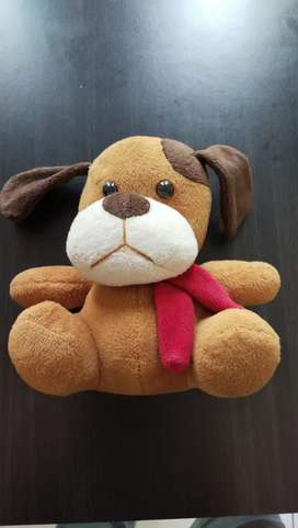 Boneka anjing coklat temen anak