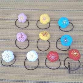 Bunga Ume -  Karet  Ikat Rambut untuk Anak&Wanita