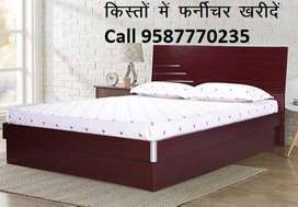 Offer Price New Double Bed With box 7290/-only Emi Available
