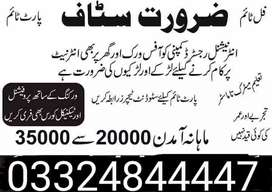 Male female staff required for full time part time online job