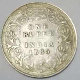 British silvar coin 1885