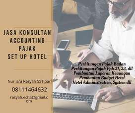 Jasa konsultan pajak, akuntansi, dan set up hotel