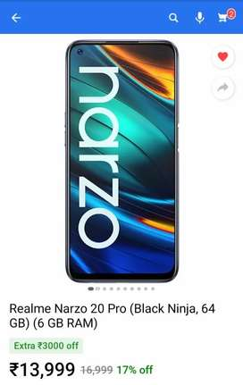 NARZO 20 Pro seal packed