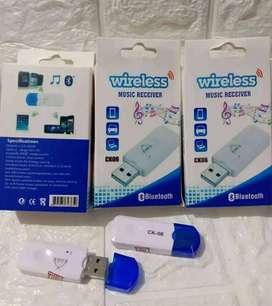 PROMO KAKA-BLUETOOTH RECEIVER CK 06 TANPA AUX CHARGER COLOK USB-BARU