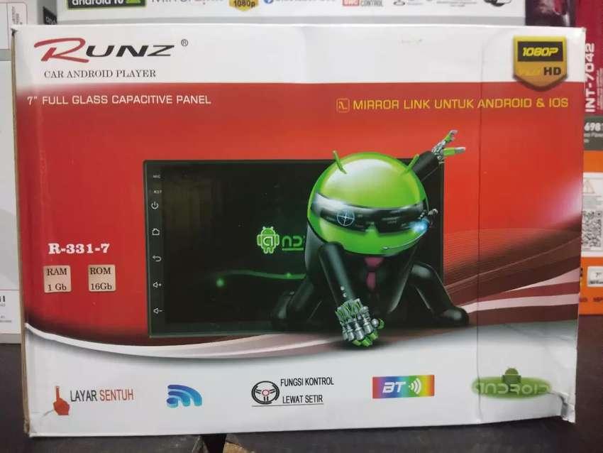 Android 7inch ram 1gb rom 16gb merek runz mirrorlink Bluetooth usb