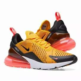 Sepatu Nike Airmax270 Tiger Gold Orange Import Premium