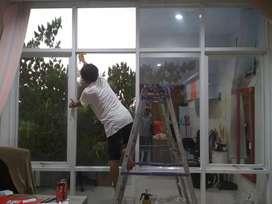 Kaca film warna untuk gedung rumah kantor dll, stiker kaca murah jogja