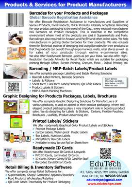 Barcoding, Batch Marking, Labels, Services for Manufacturers