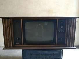 1990s shutter tv wooden frame