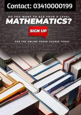 O LEVEL MATHS AND ECONOMICS ONLINE.