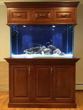Meja Aquarium Jati
