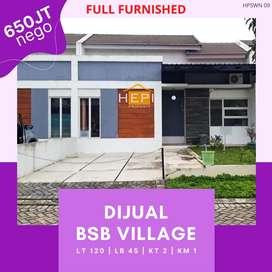 Jual Rumah Full Furnished BSB Village Mijen