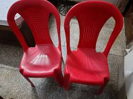 Red Chairs - 2 pc