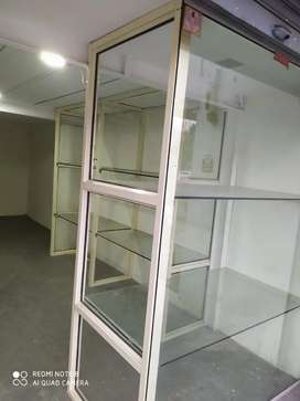 Glass partition and Rack