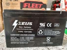 Aki Sepeda Listrik Zeus 12V 12Ah, Constant Voltage Charge