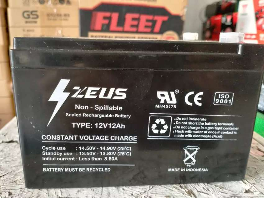 Aki Sepeda Listrik Zeus 12V 12Ah, Constant Voltage Charge 0