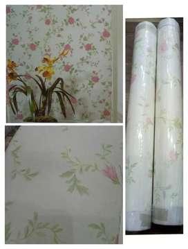 Wallpaper dinding dekorasi cantik murah