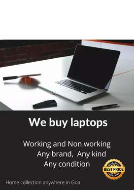 We buy laptops (working and non workin)