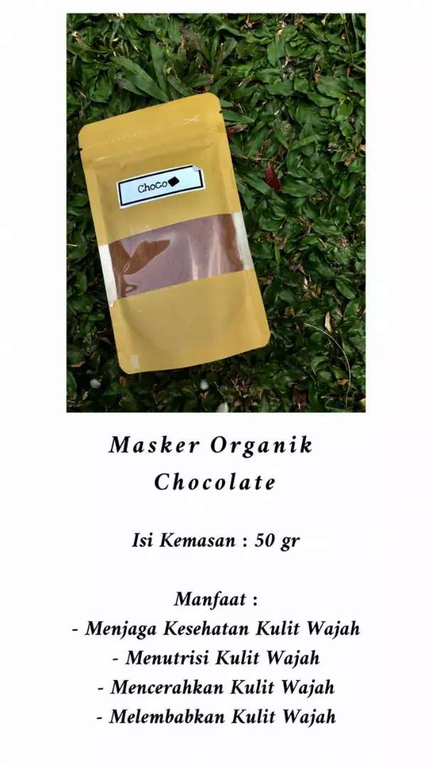 Masker organik 50 gr, cewek cowok bs pake loh 0