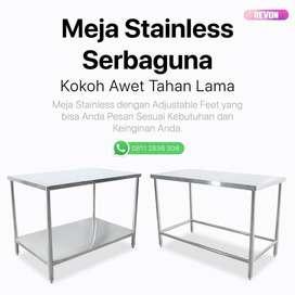 custom meja stainless steel sesuai ukuran dan bentuk di wates