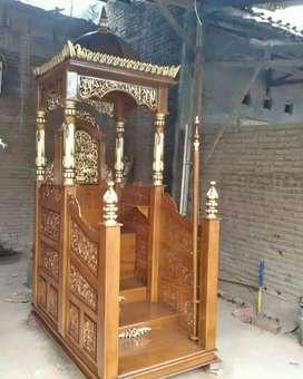 Mimbar masjid kubah full ukir