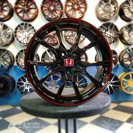 Di jual velg civic tipe R baru R17x7 H5x114 pas untuk mobil crv brv