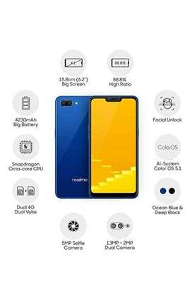 Realme c1 (2019 edition) diamond blue 2gb ram 32 GB internal memory.