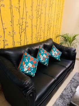 Royal Black 5 seater sofa