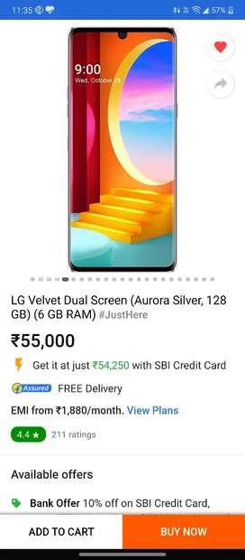 Brand new lg velvet single screen for sale (only 1month use )
