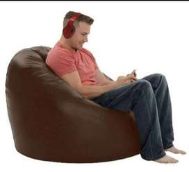 Relax bean bag leather adults