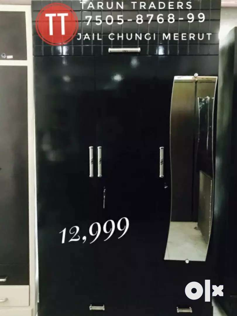Large size wardrobe with mirror 0