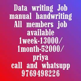 Easy manual handwriting job